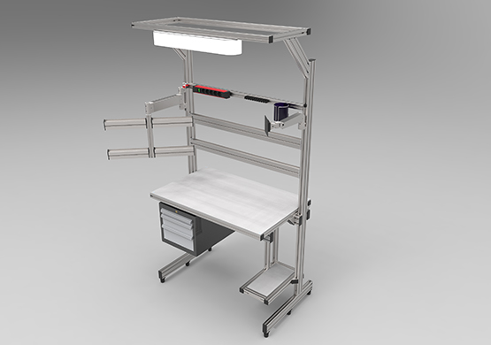 Assembly bench for units (light)