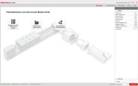 Automation-Software: Inbetriebnahme von Lineareinheiten