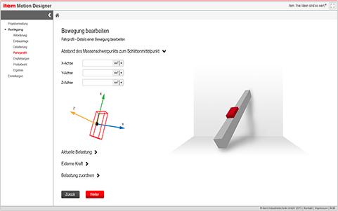 Lineareinheit mit intuitiver Software konfigurieren